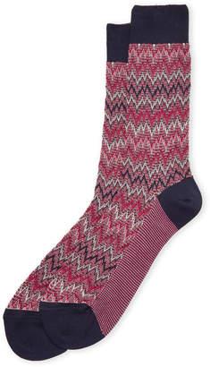 Missoni Textured Zigzag Crew Socks
