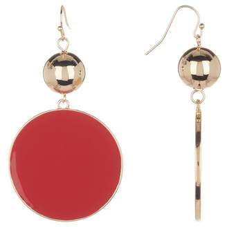 14th & Union Large Enamel Disc & Ball Dangle Earrings