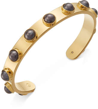 Kate Spade Gold-Tone Imitation Pearl Studded Cuff Bracelet