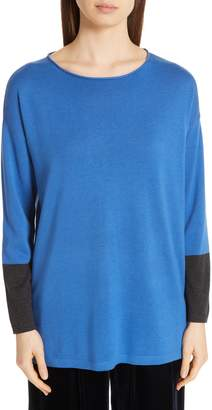 Eileen Fisher Colorblock Sleeve Tunic