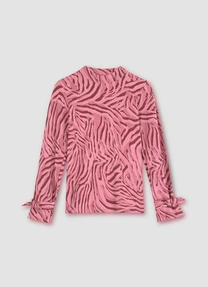 Mint Velvet Pink Zebra Print Jersey Top