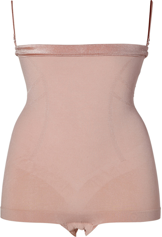 Spanx Slimmer & Shine High-Waisted Body Tunic in Rose Gold