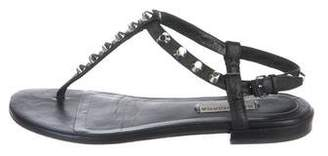 Balenciaga Studded Leather Ankle Strap Sandals