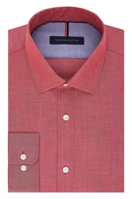 Tommy Hilfiger Men's Non Iron Slim Fit Solid Spread Collar Dress Shirt