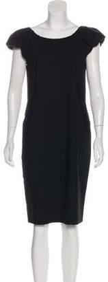 Dolce & Gabbana Virgin Wool Knee-Length Dress