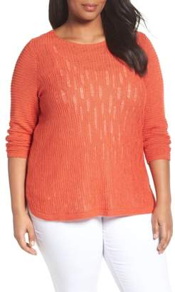 Nic+Zoe Sheer Dusk Sweater