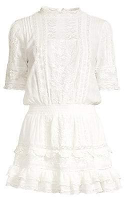 LoveShackFancy Women's Leighton Lace Blouson Dress