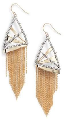 Alexis Bittar Chain Fringe Earrings