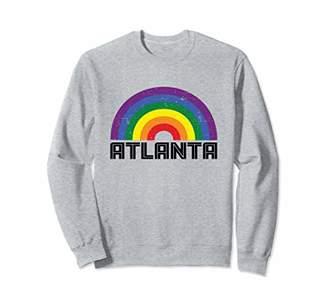 Atlanta LGBTQ Distressed Gay Rainbow Sweatshirt