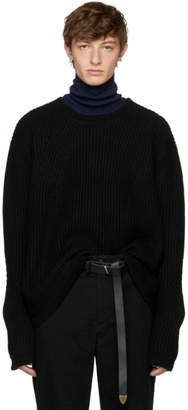 Robert Geller Black Lieutenant Sweater