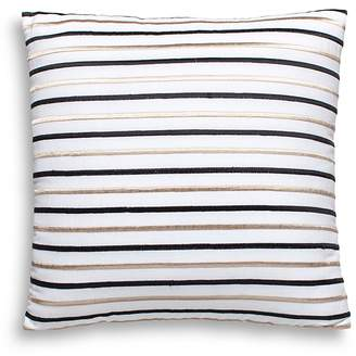 """Kate Spade Embroidered-Stripe Decorative Pillow, 18"""" x 18"""""""