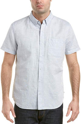 AG Jeans Nash Linen-Blend Woven Shirt