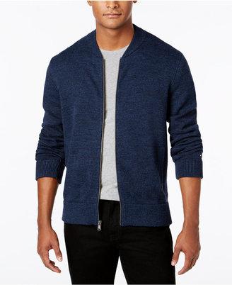 Tommy Hilfiger Men's Textured Zip-Front Cardigan $149 thestylecure.com