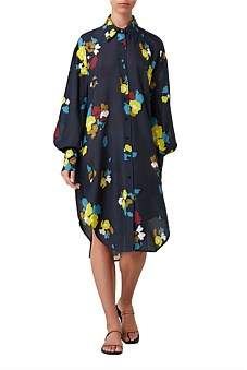 Maeve Lee Mathews Floral Shirtdress
