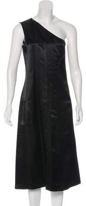 Celine Satin One-Shoulder Dress w/ Tags