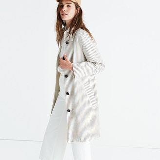 Madewell Striped Outpost Trench Coat