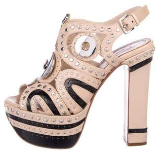 Alaia Studded Platform Sandals