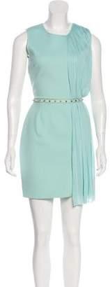 Versace Sleeveless Pleated Dress