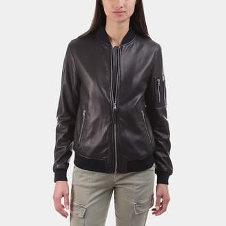 Mackage Val Leather Bomber Jacket