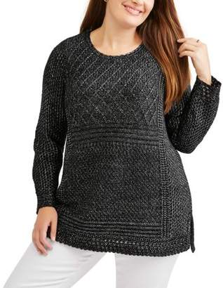 Faded Glory Women's Plus Tunic Sweater