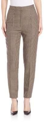 Escada Slim Checkered Pants