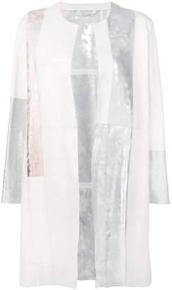Giorgio Brato patchwork open front coat