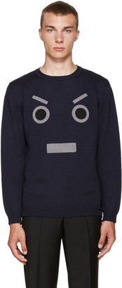 Fendi Navy Large Face Sweater $600 thestylecure.com