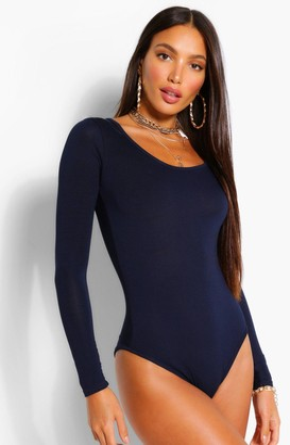 boohoo Tall Long Sleeve Basic Bodysuit