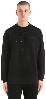 Diesel Destroyed Cotton Blend Sweater
