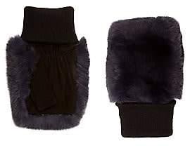 Glamour Puss Glamourpuss Glamourpuss Women's Fingerless Rabbit-Fur Gloves