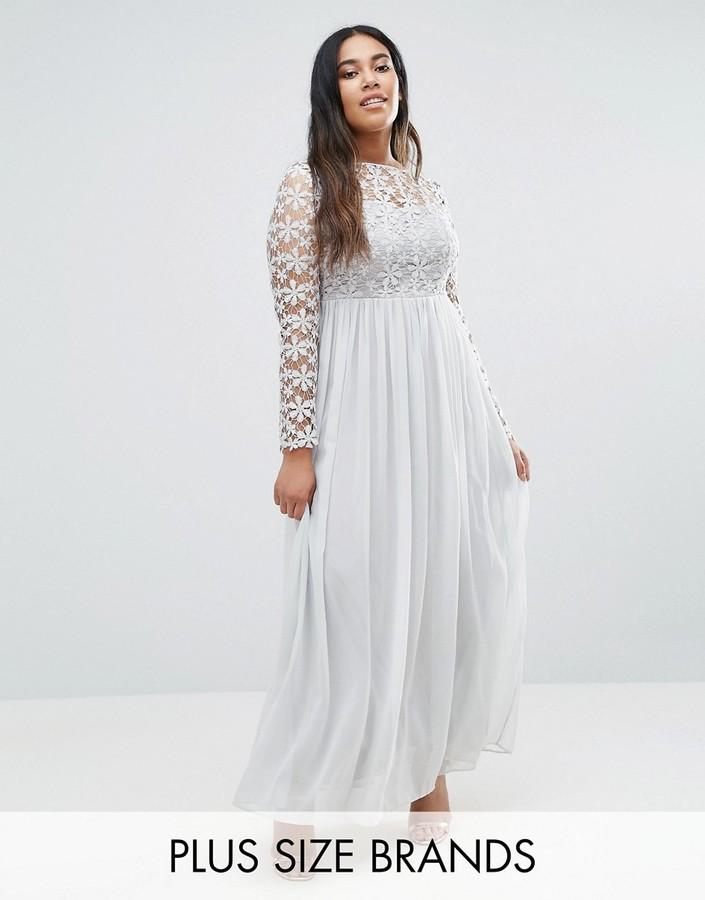 Club L Plus Maxi Dress With Crochet Top