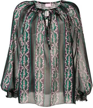 Giamba printed peasant blouse
