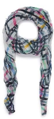 Faliero Sarti 'Spruzzino' check border modal-cashmere scarf