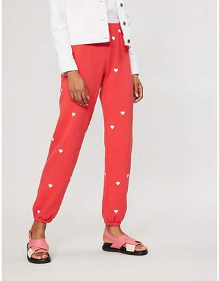 Wildfox Couture Lovestruck cotton-jersey jogging bottoms
