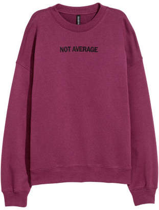 H&M Sweatshirt with Satin Ribbons - Purple