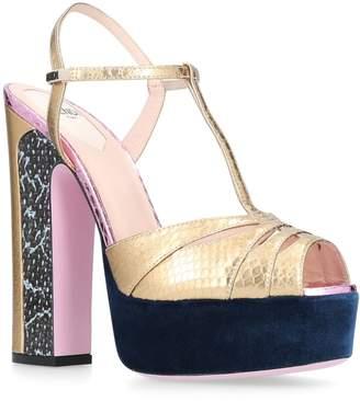 Fendi Snakeskin Platform Sandals