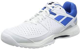 Babolat [バボラ] テニスシューズ オムニコート用 ユニセックス パルション BAS17337 WHBL ホワイト×ブルー 24.5