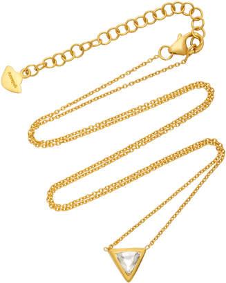 Amrapali Kundan Vintage Diamond And 18K Gold Triangle Pendant Necklace