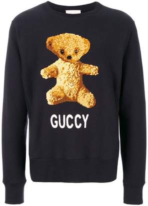 Gucci teddy bear sweatshirt