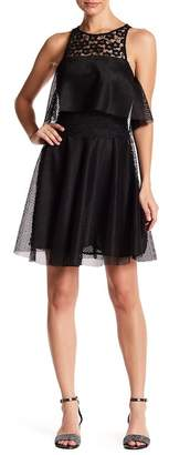 Betsey Johnson Lace Front Popover Dress