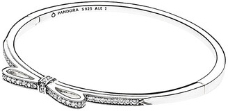 Pandora Silver Cz Bow Bracelet