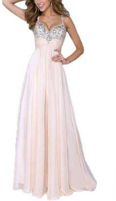 Zamtapary Women Vintage Sequins Paillettes Lace Chiffon Wedding Long Maxi Dress L