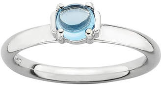 JCPenney FINE JEWELRY Personally Stackable Genuine Blue Topaz Sterling Silver Stackable Ring