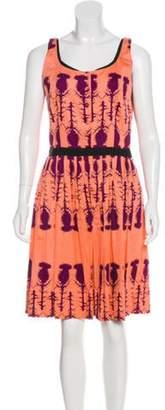 Sophie Theallet Printed Knee-Length Dress Coral Printed Knee-Length Dress