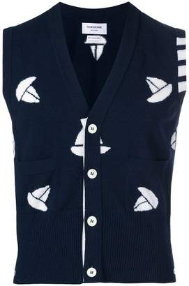 Thom Browne 4-Bar Sailboat Vest