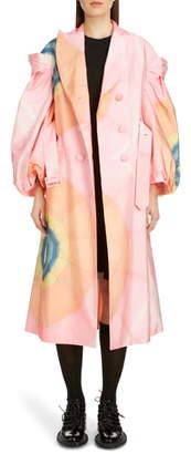 Simone Rocha Double Breasted Taffeta Coat