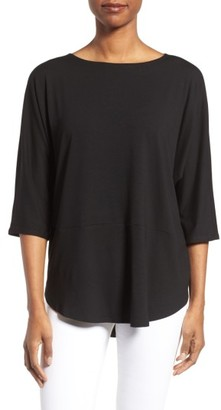 Women's Eileen Fisher Jersey Bateau Neck Tee $118 thestylecure.com