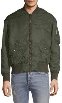 Diesel Black Gold Distressed Bomber Jacket