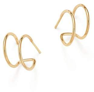 Rachel Zoe Zoë Chicco 14k Yellow Gold Double Hoop Earrings
