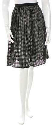 Tibi Perforated Knee-Length Skirt